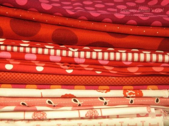 Granny Maud's Girl's fabric stash