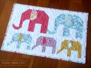 Humidicrib quilt made using Sew Fresh Quilts' 'Elephant Parade' pattern
