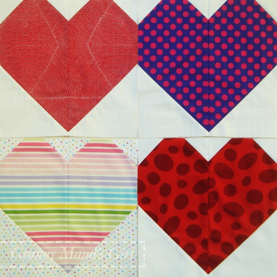 Cluck Cluck Sew 10-inch patchwork hearts