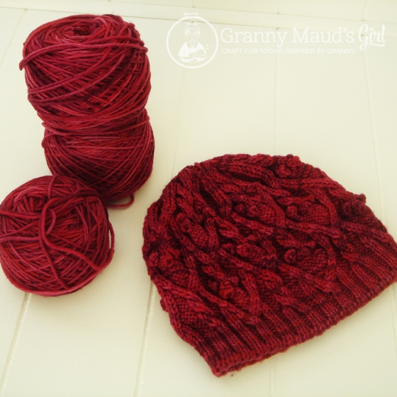 Laurel Hat knitted by Granny Maud's Girl