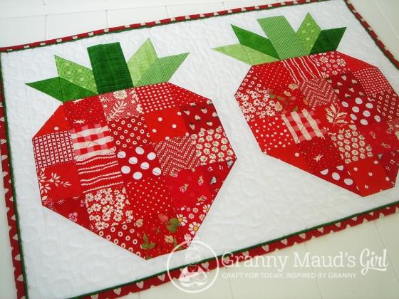 Strawberry humidicrib sewn by Granny Maud's Girl