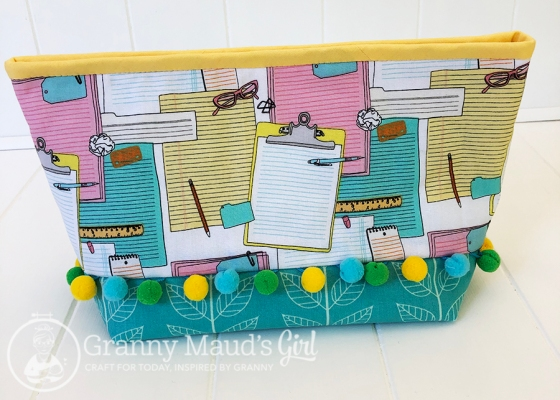 Lola pouch made with clipboard print