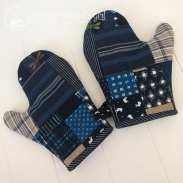 Hand-made oven mitts